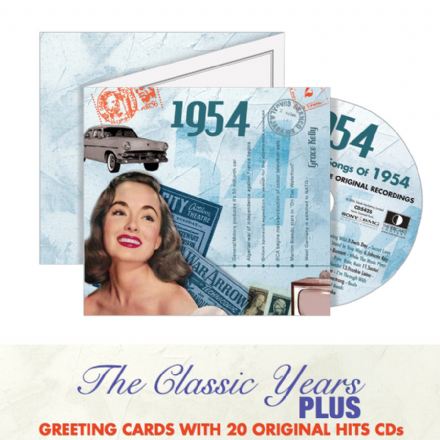 1950 to 1959  The Classic Years CD Greeting Card.